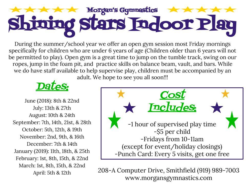 shining stars open gym at mga