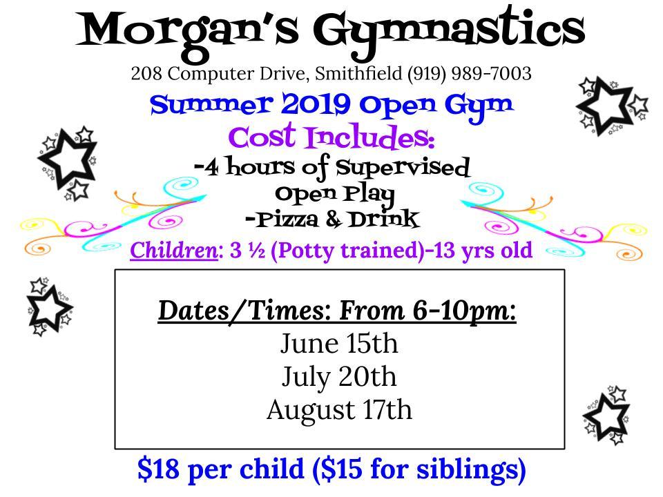 summer open gym programs