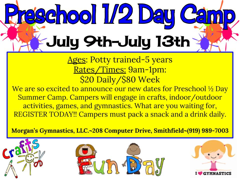 pre-school summer camp 2018