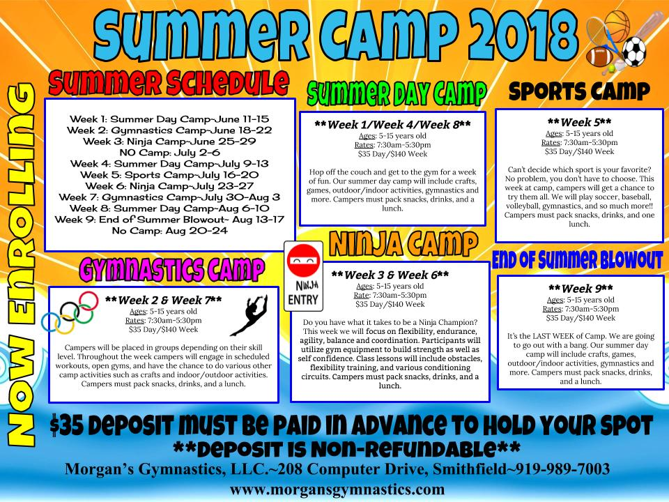 MGA summer camp 2018