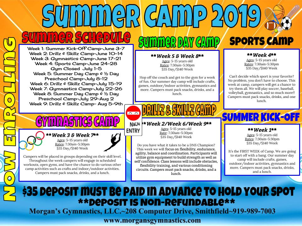 mga summer camp 2019